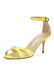 Manolo Blahnik Callre Crisscross Patent 70mm Sandal