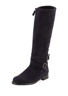 Manolo Blahnik Campocross Suede Zip Knee Boot