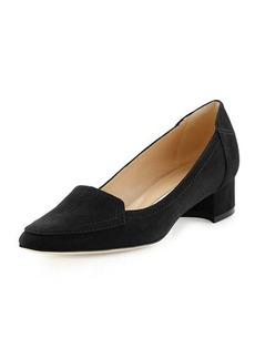 Manolo Blahnik Carlisa 30mm Suede Loafer