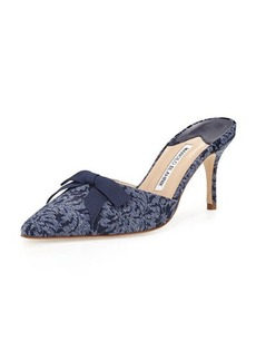 Manolo Blahnik Carolyne Denim 70mm Mule