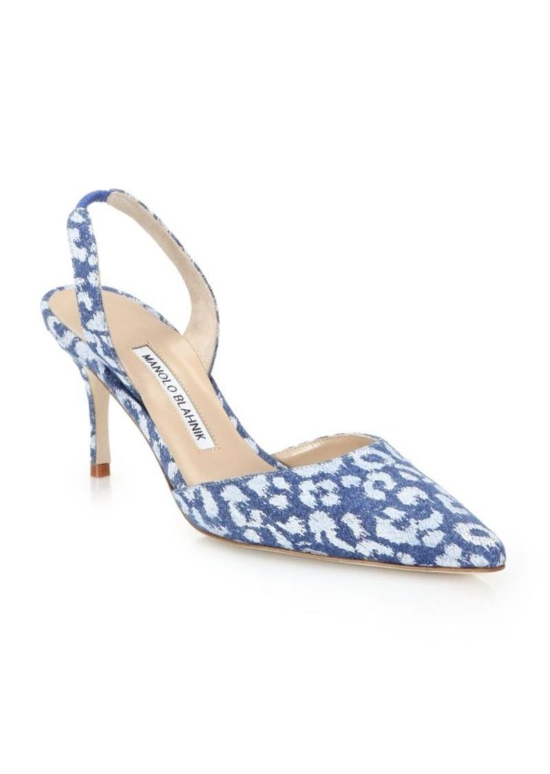 6c2405451 On Sale today! Manolo Blahnik Manolo Blahnik Carolyne Leopard-Print ...