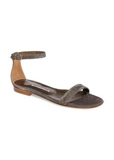 Manolo Blahnik Chafla Ankle Strap Sandal (Women)