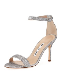 Manolo Blahnik Chaos Shimmery Sandals