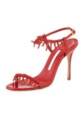 Manolo Blahnik Cienzona Embellished Patent Sandal