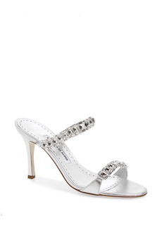 Manolo Blahnik Dallifac Embellished Sandal (Women)