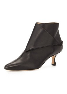 Manolo Blahnik Diaz Leather Ankle Bootie
