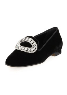 Manolo Blahnik Dipla Velvet Smoking Slipper
