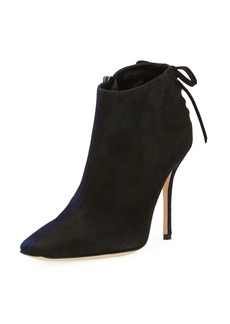 Manolo Blahnik Duskin Two-Tone Suede Booties