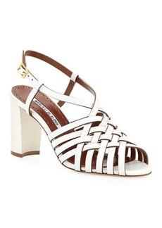 Manolo Blahnik Edita 90mm Woven Sandals