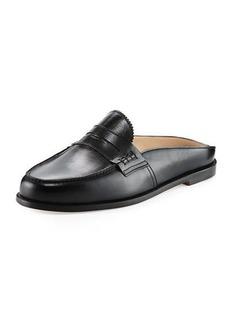 Manolo Blahnik Elle Leather Loafer Mule