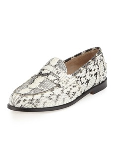 Manolo Blahnik Ellen Watersnake Penny Loafer