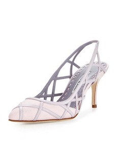 Manolo Blahnik Enatos Lattice Slingback Pump