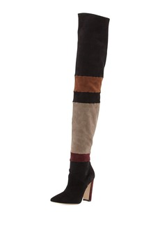 Manolo Blahnik Epal Over-The-Knee Suede Boot