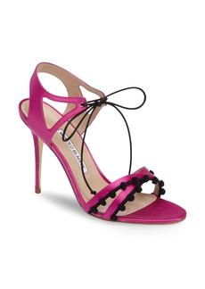 Manolo Blahnik Esparra Lace-Up Sandal (Women)
