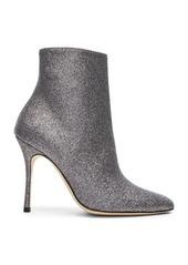 Manolo Blahnik Glitter Insopo 105 Boots