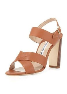 Manolo Blahnik Gorham Leather Slingback Sandal
