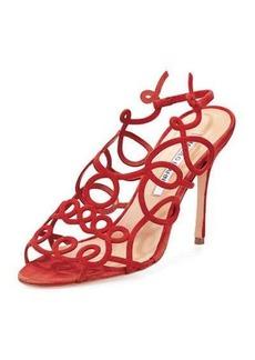 Manolo Blahnik Gori Squiggly High-Heel Sandal