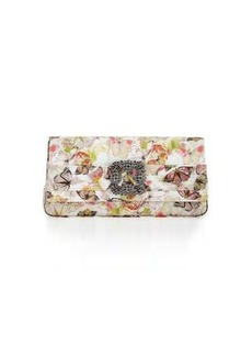 Manolo Blahnik Gothisi Butterfly Fabric Buckle Clutch Bag