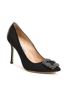 Manolo Blahnik Hangisi 105 Satin Pumps