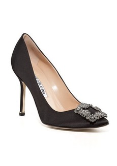 Manolo Blahnik Hangisi 105mm Satin Pumps