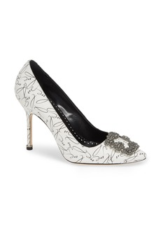 Manolo Blahnik Decade of Love Hangisi Anniversary Embellished Pump (Women) (Limited Edition)