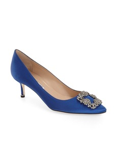 Manolo Blahnik 'Hangisi' Crystal Embellished Pump (Women)