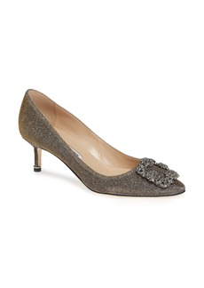Manolo Blahnik Hangisi Crystal Embellished Pump (Women)