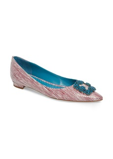 Manolo Blahnik Hangisi Jewel Buckle Flat (Women)