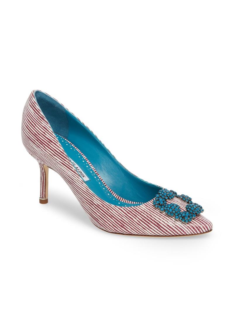 0b11a786a4e8a Manolo Blahnik Manolo Blahnik Hangisi Jewel Buckle Pump (Women) | Shoes