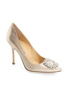 Manolo Blahnik 'Hangisi' Jeweled Pump (Women) (Nordstrom Exclusive Color)