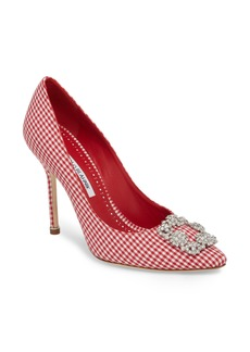 Manolo Blahnik 'Hangisi' Ornamented Pump (Women)