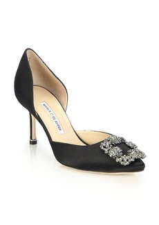 Hangisido 70 Satin d'Orsay Pumps