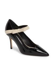 Manolo Blahnik Immaculada Bow Pointy Toe Pump (Women)