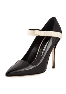 Manolo Blahnik Immaculada Patent Mary Jane Pumps