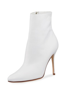 Manolo Blahnik Insopo Leather Zip Bootie