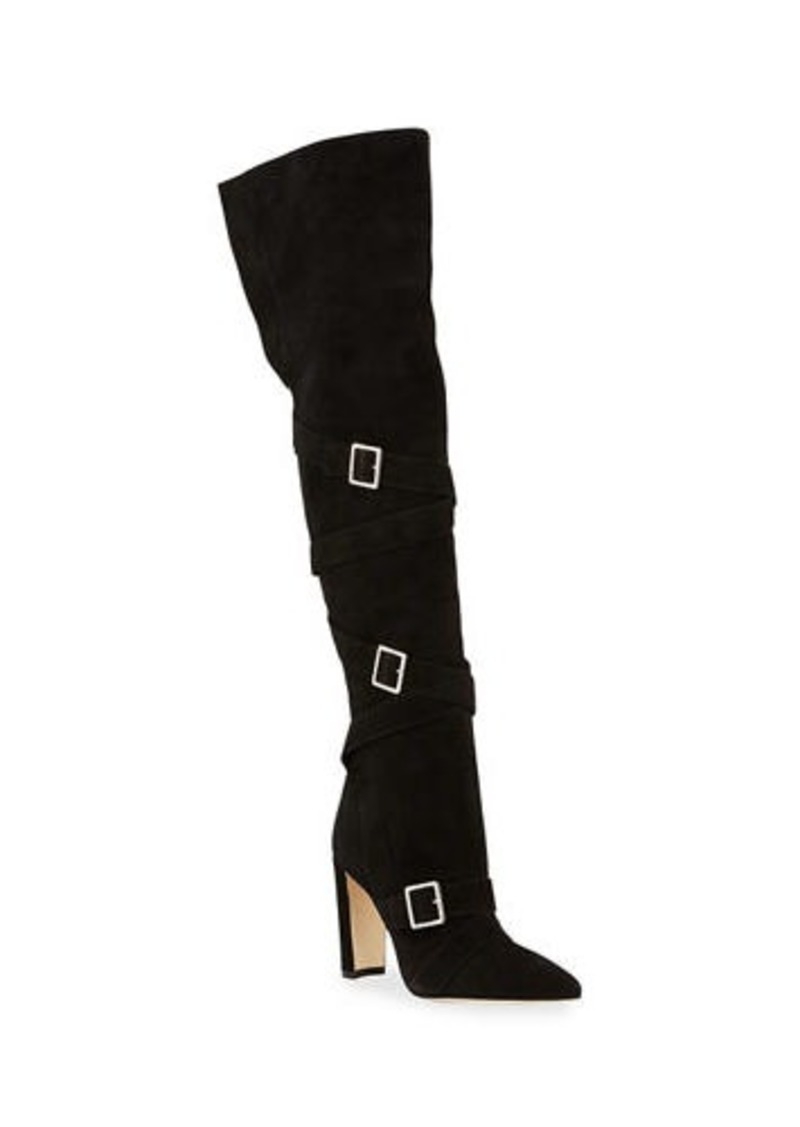 Manolo Blahnik Josimhi Suede Over-The-Knee Boots