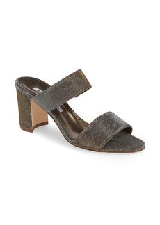 Manolo Blahnik Kalita Metallic Slide Sandal (Women)