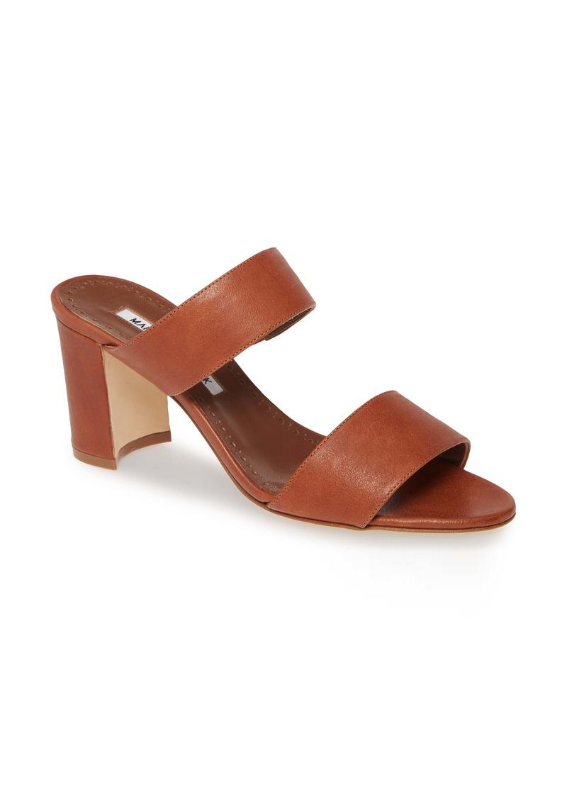 Manolo Blahnik Kalita Strappy Slide Sandal (Women)