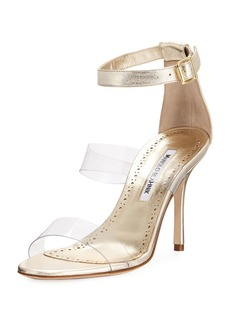Manolo Blahnik Kaotic PVC Metallic Sandal