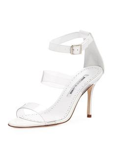 Manolo Blahnik Kaotic PVC Patent Sandal