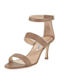 Manolo Blahnik Kaotic Triple-Strap Sandal