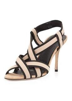 Manolo Blahnik Lasti Stretch-Strap Crisscross Sandal