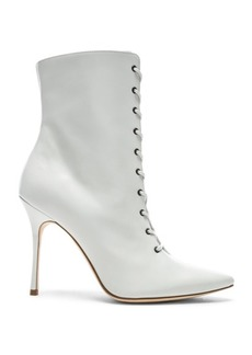 Manolo Blahnik Leather Bordin Booties