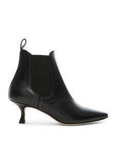Manolo Blahnik Leather Chelsa 50 Boots