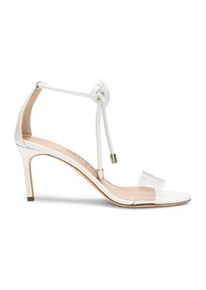 Manolo Blahnik Leather Estro 70 Sandals