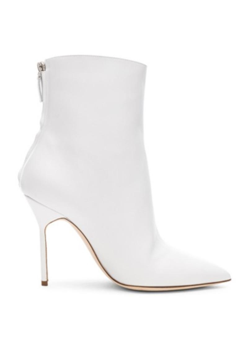 Manolo Blahnik Leather Zarinanu 105 Boots