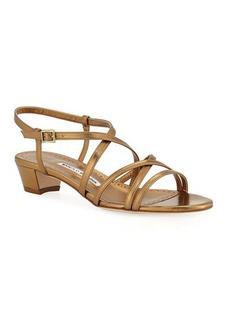 Manolo Blahnik Lupita Strappy Leather Sandals
