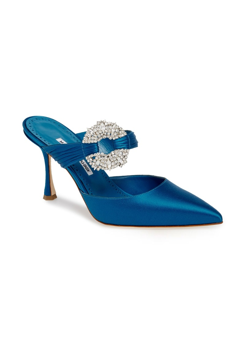 Manolo Blahnik Maidugur Jewel Mule (Women)