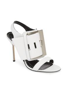 Manolo Blahnik Martagamo Buckle Sandal (Women)