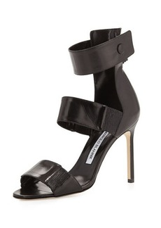 Manolo Blahnik Mielozela Three-Strap High-Heel Sandal